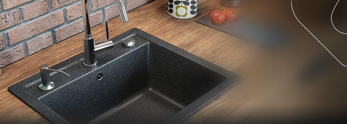 Küchenspülen aus Granit für 50 cm Schrank