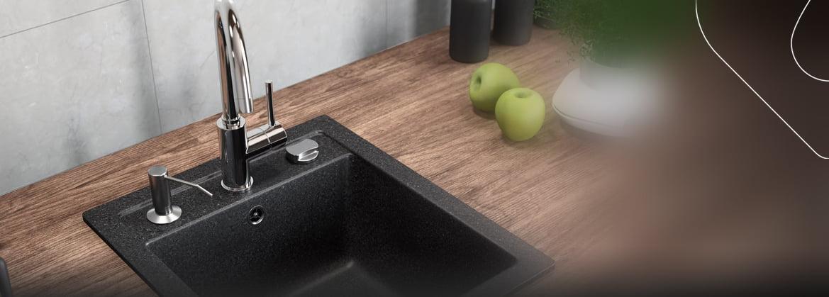 Küchenspülen aus Granit für 40 cm Schrank