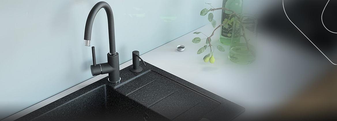 Küchenspülen aus Granit für 45 cm Schrank